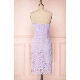 Dantel midi elbise  byz-k21011